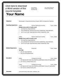basic resume format template  tomorrowworld cobasic