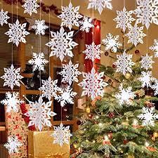 Amazon.com: Winter <b>Christmas</b> Hanging Snowflake <b>Decorations</b> ...