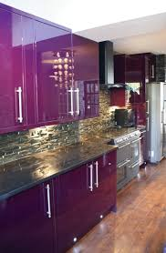 Kitchen Cabinet Bar Handles Stunning Purple Kitchen Appliances With Stainless Steel Kitchen