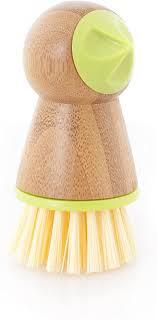 Full Circle, Green <b>Tater Mate</b> Bamboo <b>Potato</b> Brush with <b>Eye Remover</b>