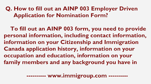how to fill out an ainp 003 employer driven application for how to fill out an ainp 003 employer driven application for nomination form
