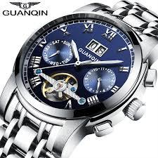 Original <b>GUANQIN</b> Mechanical Watches <b>Men Steel</b> Waterproof ...