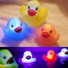 <b>Hot Sale 4 Pcs</b> /set Children Kids <b>Rubber</b> Flashing Light Duck Bath ...