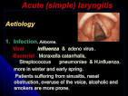 spasmodic laryngitis