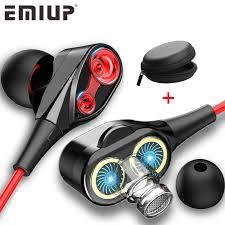 Dual Drive Stereo <b>Wired Earphone</b> In ear <b>Headset Earbuds</b> Bass ...