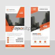 orange business roll up banner flat design template abstract orange business roll up banner flat design template abstract geometric banner template vector illustration set abstract presentation brochure flyer