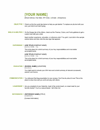 microsoft office sample resume templates  june in this post we present a basic resume    colors  green and black  and orderes by the following tittles  objective  skills and abilities  experience
