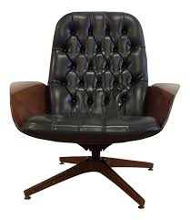 1960s plycraft mid century mr chair antique leather office chair