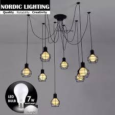 8 Heads Pendant lights <b>Modern Nordic</b> Lighting Retro Hanging ...