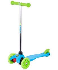 <b>Самокат</b> 3-х колесный <b>Ridex 3D Zippy</b> 2.0 120/80 мм голубой ...