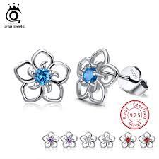 <b>ORSA JEWELS</b> 100% <b>925 Sterling</b> Silver Female Stud Earrings ...