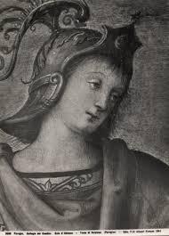 Vannucci Pietro , Fortezza e Temperanza con Lucio Sicinio, Leonida, Orazio Coclide, Scipione, Pericle, Cincinnato - 50945