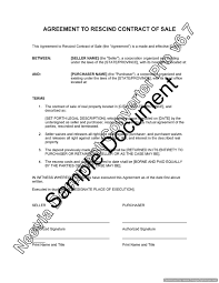 agreement to rescind contract of lawyer com au product description