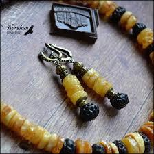 <b>Серьги</b> Мед и шоколад: <b>Янтарь</b>, <b>Латунь</b>, Экзотические семена ...