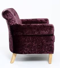 dining chair hbn highbackdiningchair: pittsburgh grape crushed velvet fabric arm chair