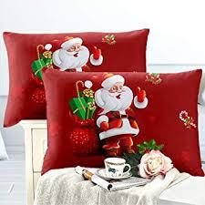 JARSON 2Pcs Merry Christmas Pillowcase King Size ... - Amazon.com