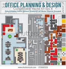 planning office space office space planning and design vector kit contains construction elements modern furniture cad office space layout
