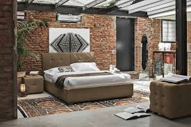 modern bedroom concepts: view in gallery vintage bedroom with exposed brick glass ceiling target