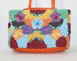 <b>Floral</b> straw bag | Etsy