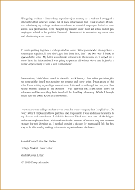 cover letter college student template cover letter college student