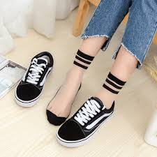 Japanese college wind striped tube socks spring and summer ultra ...