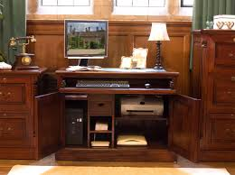 traditional hidden home office desk hideaway workstation gallery of hidden home office furniture atlas oak hidden home