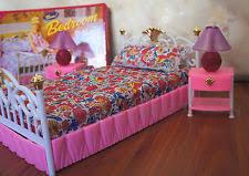 gloria furniture doll size new bedroom lighted bedlamp set for barbie playset barbie bedroom furniture