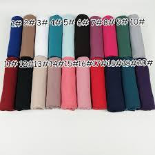 Cotton Stretched jersey <b>Hijab Scarf Women Muslim</b> Head <b>Scarf</b> ...