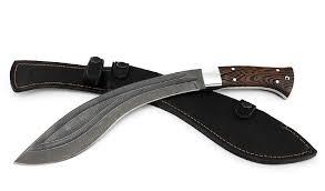 <b>Нож</b> Мачете №<b>6</b> (<b>кукри</b>) сталь дамаск-долы рукоять венге