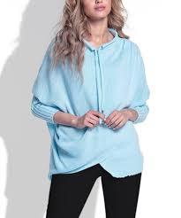 <b>Fimfi</b> Sky Blue Crossover <b>Sweater</b> - Women | Zulily