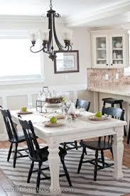 black and white dining table set: start at home dining area and table white table annie sloans old white chalk