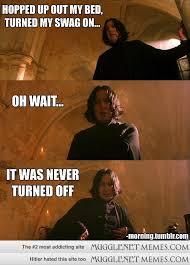 Snape swag. - MuggleNet Memes via Relatably.com