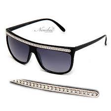 Flat <b>Top Rhinestone</b> Women <b>Sunglasses</b> Designer Inspired ...