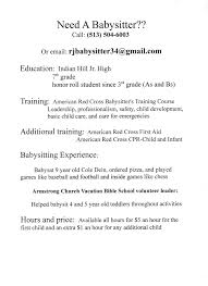 make a babysitting resume coverletter for job education make a babysitting resume babysitter resume objectives resume sample livecareer babysitting resumejpg