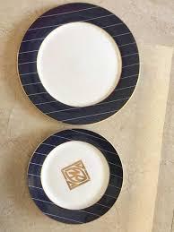 <b>2pcs</b> pack Blue China <b>bone</b> dinner <b>plates</b> dessert <b>plate</b> dinner...