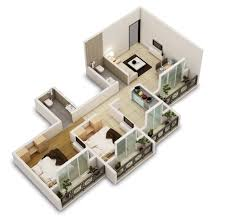 Two Bedroom HouseApartment Floor Plans - Two bedroomed house plans