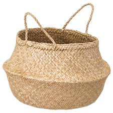FLÅDIS <b>Basket</b>, seagrass - IKEA