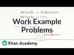 Work example problems (video) | Khan Academy