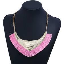 <b>Fashion Simple Triangle</b> Tassel <b>Creative</b> Lady Alloy Necklace ...