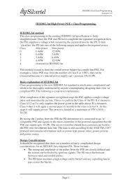 <b>IEEE802</b>.<b>3at High Power POE+</b> Class Programming. IEEE802.3af ...
