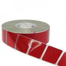 5 metres <b>Rigid</b> Grade Reflective Reflector Marker Tape RED ...