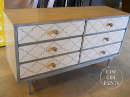 i used this pattern on an old dresser and head board chevron painted furniture