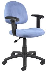 boss posture back task chair in light blue microfiber with adjustable arms blue task chair office task chairs