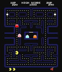 In game Pac-Man from Atari 2600 Jr.