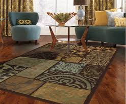 rustic style living room clever: clever colorful living room rug s brown floral shag wool rug brown wooden laminate ing round