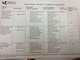 example smarta learning agreement goals siobhan walker smarta goal 1