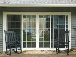 door patio window world: white wooden frame for sliding glass patio doors and black f