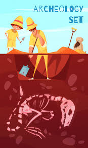 Free Vector   <b>Archeology</b> excavation <b>scientists</b> with work tools during ...