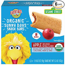 Earth's Best <b>Organic</b> Sesame Street <b>Sunny Day</b> Toddler <b>Snack</b> Bars ...