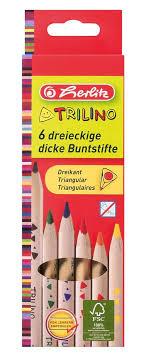 Herlitz <b>Набор цветных</b> карандашей Trilino <b>6</b> шт — купить в ...